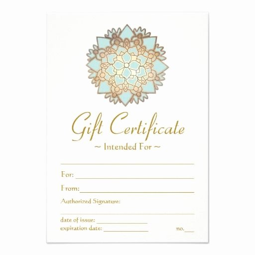 Spa Gift Certificate Template Lovely 25 Best Gift Certificate Templates Images On Pinterest