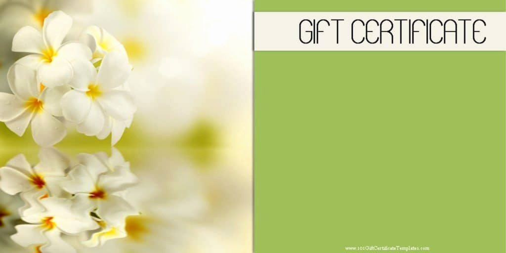 Spa Gift Certificate Template Lovely Spa Gift Certificates 101 Gift Certificate Templates