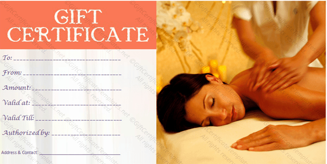 Spa Gift Certificate Template Word Beautiful Customizable Spa T Certificate Template