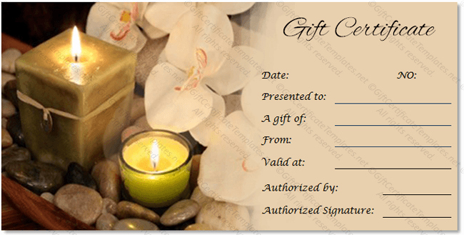 Spa Gift Certificate Template Word Beautiful Spa Gift Certificate Templates