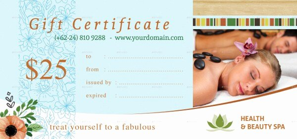Spa Gift Certificate Template Word Best Of Free 26 Certification Templates & Examples In Word