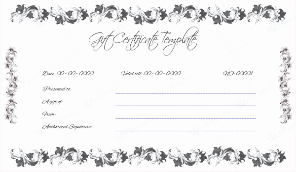 Spa Gift Certificate Template Word Inspirational 10 Gift Certificate Templates to Appear Professional