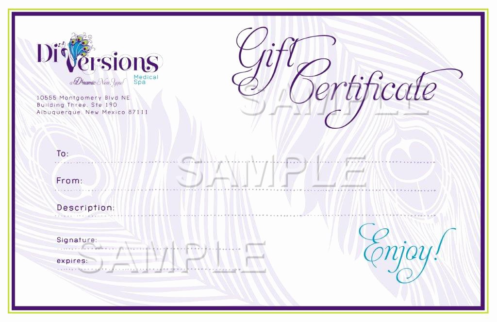 Spa Gift Certificate Template Word Lovely Medspa Specials Albuquerque Medical Spa Discounts Santa
