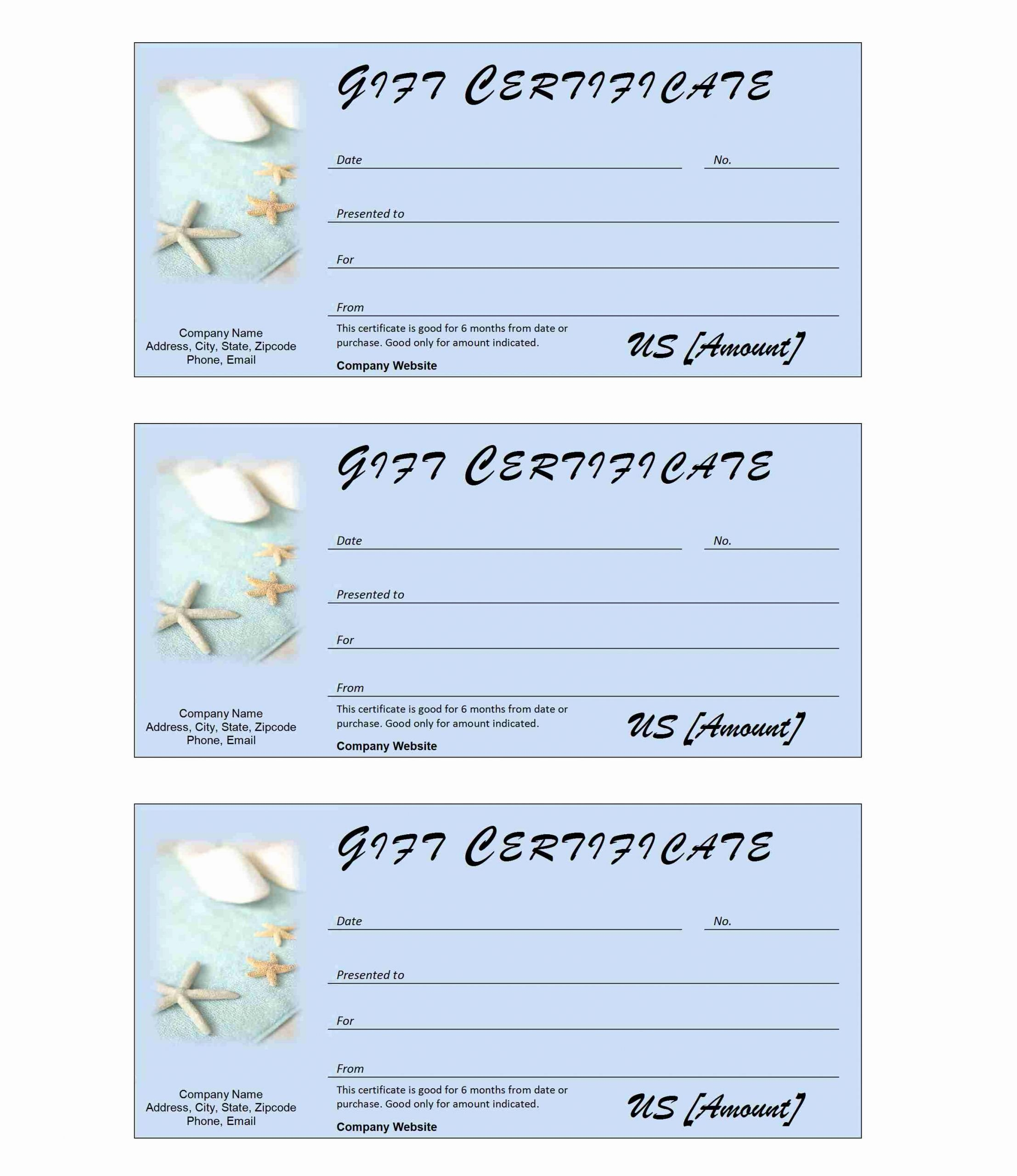 Spa Gift Certificate Template Word New Ms Word Templates Resumes Calendars Invoices Cards