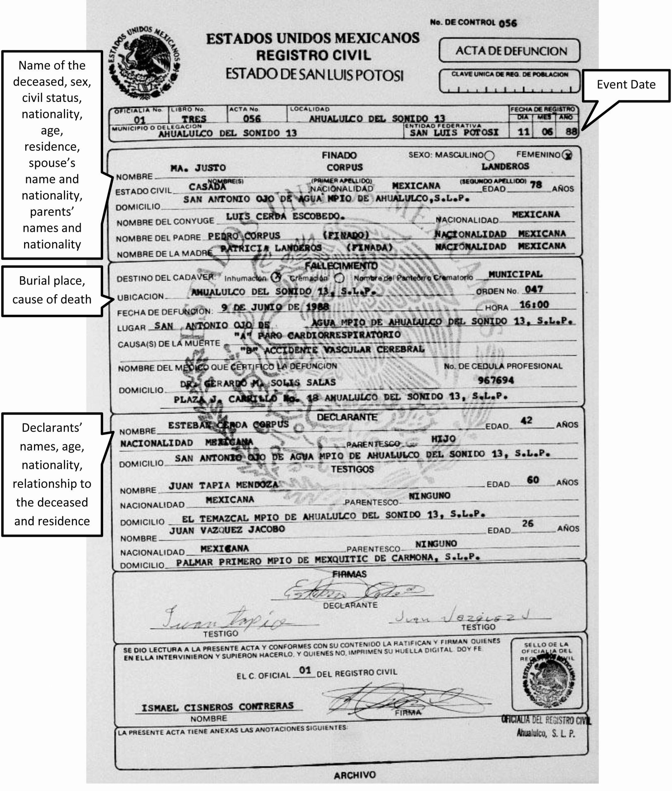 Spanish Birth Certificate Template Elegant 29 Of Spanish Death Certificate Template