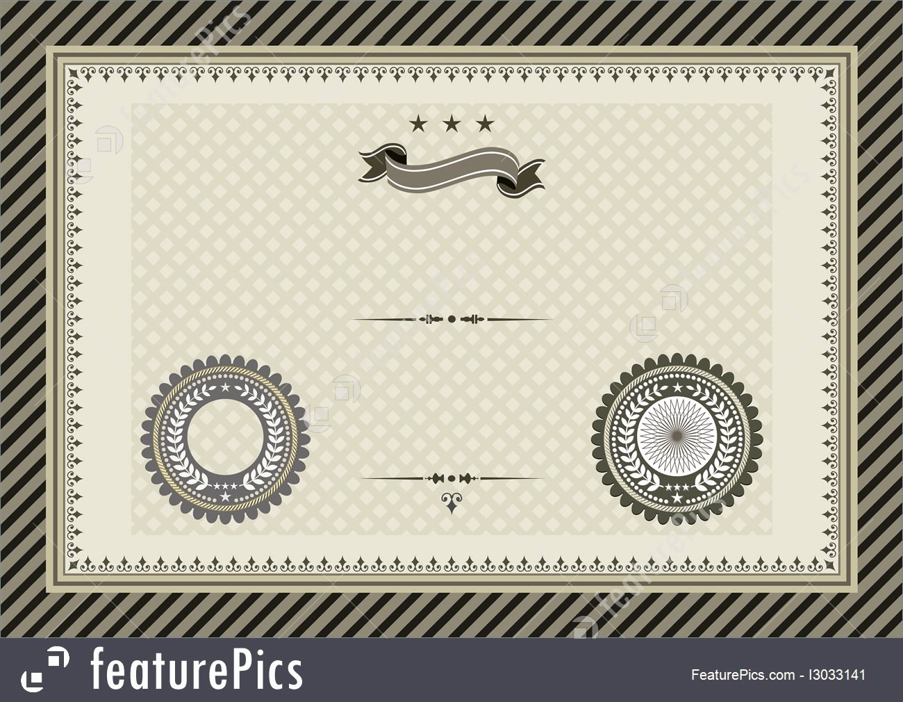 Spay Neuter Certificate Template Lovely Templates Retro Template Certificate with Seals Stock