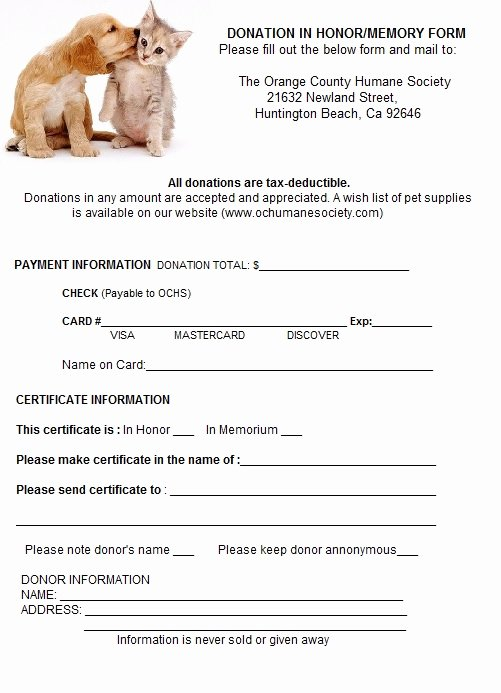 Spay Neuter Contract form Beautiful orange County Humane society Pet Adoption In Huntington