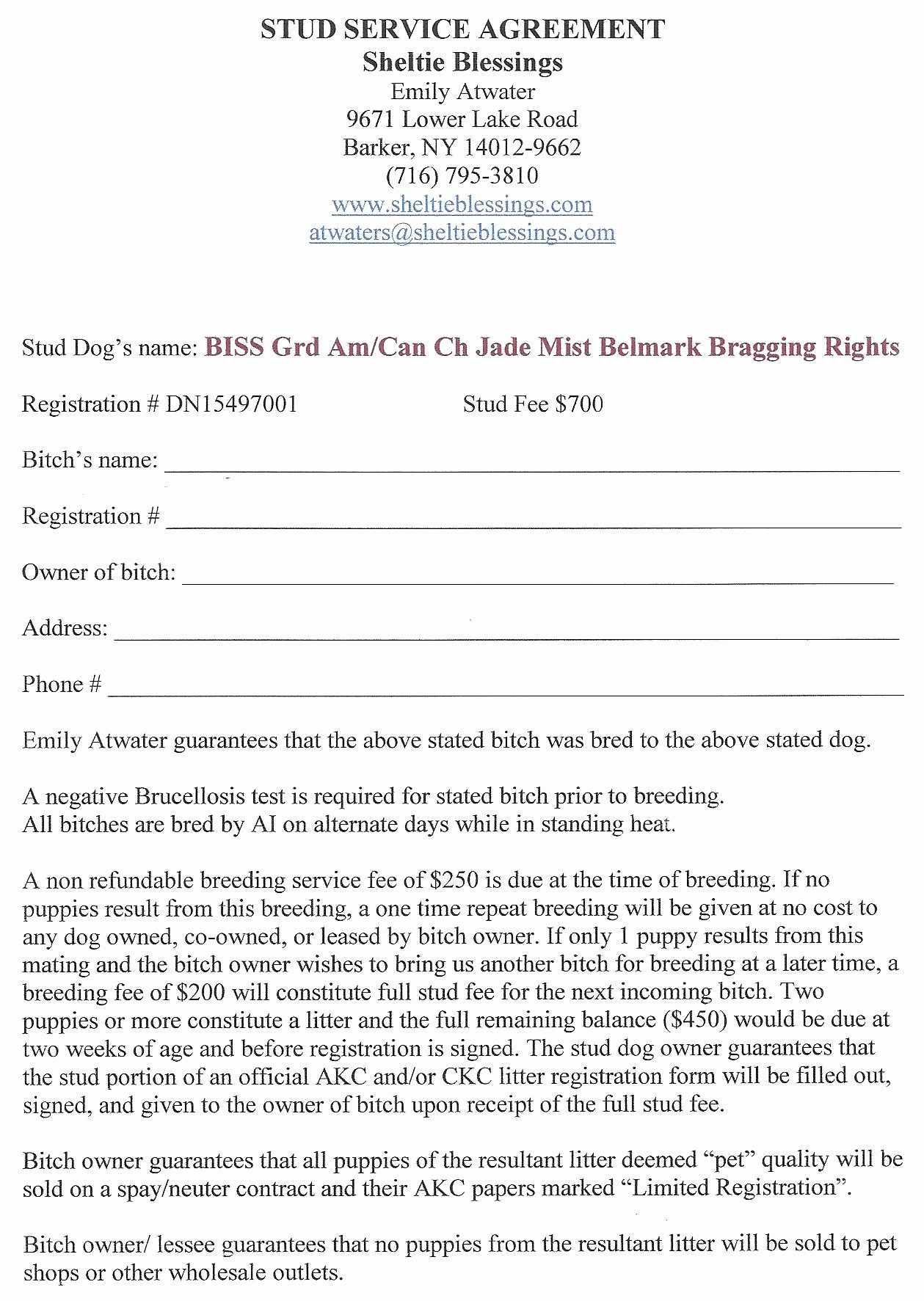 Spay Neuter Contract form Luxury Spay and Neuter Contract Template Paramythia Docs