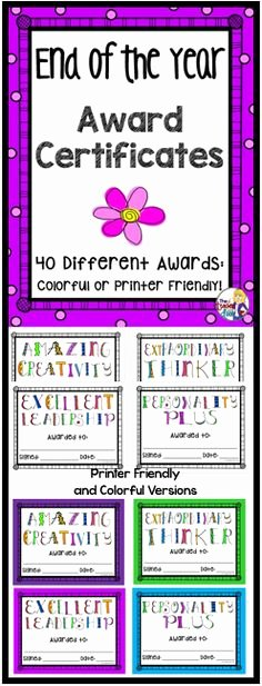 Special Award for Students Inspirational Classroom Awards Make Kids Feel Special