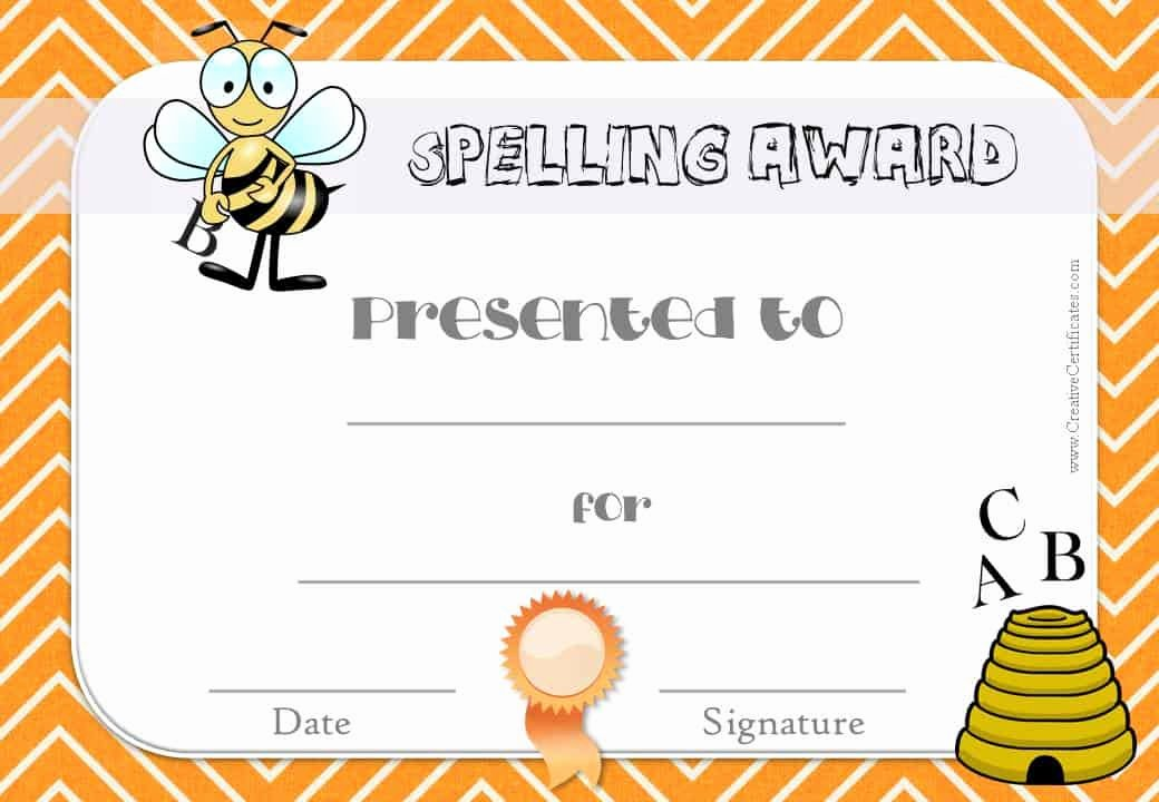 Spelling Bee Certificate Template Awesome Free Spelling Bee Certificate Templates Customize Line