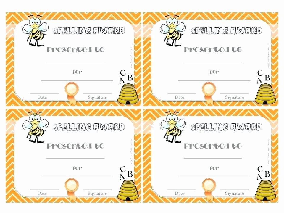 Spelling Bee Certificate Template Fresh Spelling Bee Certificate Template – Vivafashionfo
