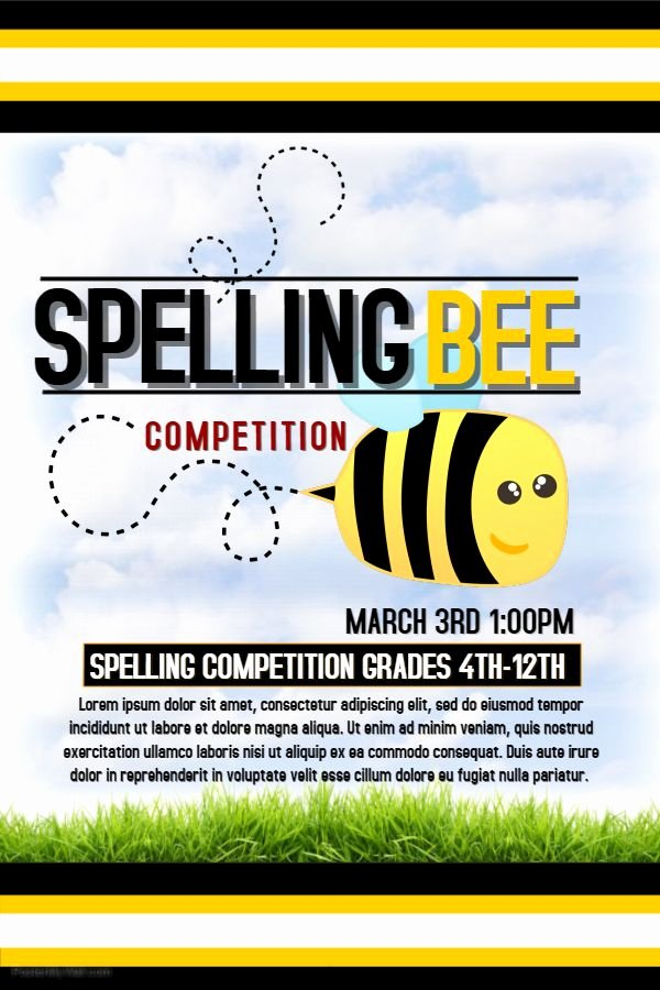 Spelling Bee Poster Ideas Awesome 22 Best Contest Posters Images On Pinterest