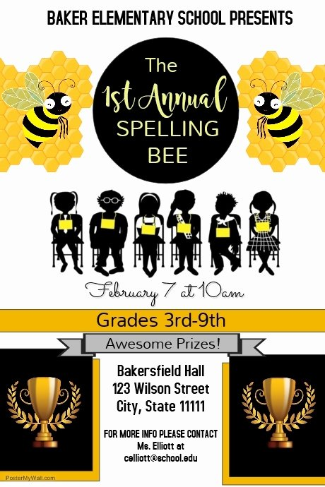 Spelling Bee Poster Ideas Beautiful Spelling Bee Petition Template