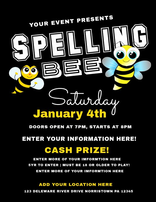 Spelling Bee Poster Ideas Beautiful Spelling Bee Template