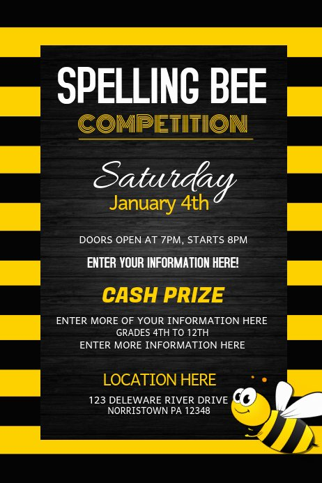 Spelling Bee Poster Ideas Best Of Spelling Bee Petition event Flyers Template