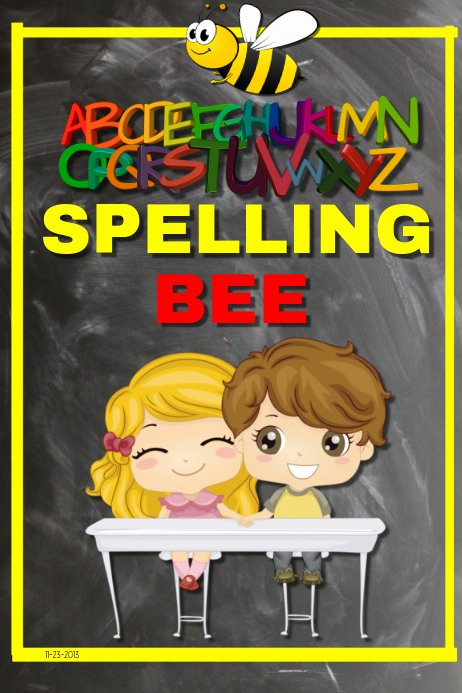 Spelling Bee Poster Ideas Luxury Spelling Bee Template