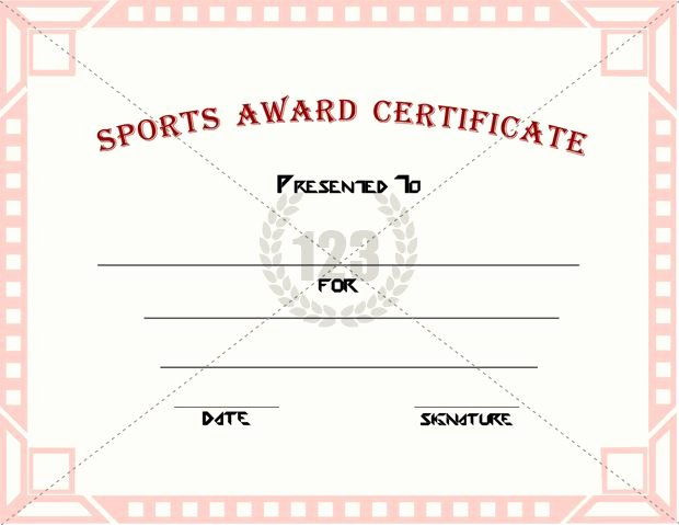 Sports Awards Certificate Template Awesome Good Sports Award Certificate Templates for Free Download