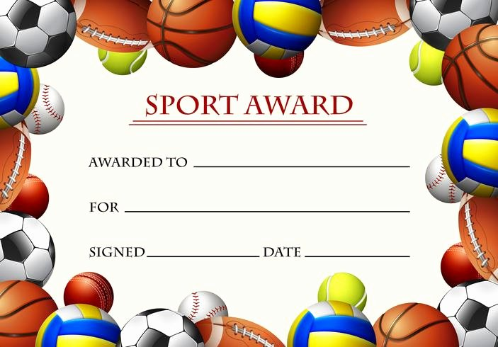 Sports Awards Certificate Template Beautiful Certificate Template for Sport Award Download Free