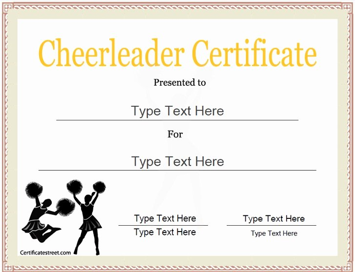 Sports Awards Certificate Template Beautiful Sports Certificate Cheerleader Certificate