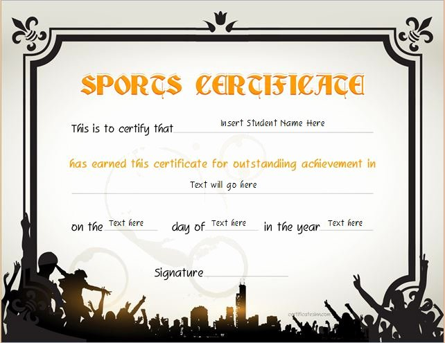 Sports Awards Certificate Template Best Of Sports Certificate Templates for Ms Word