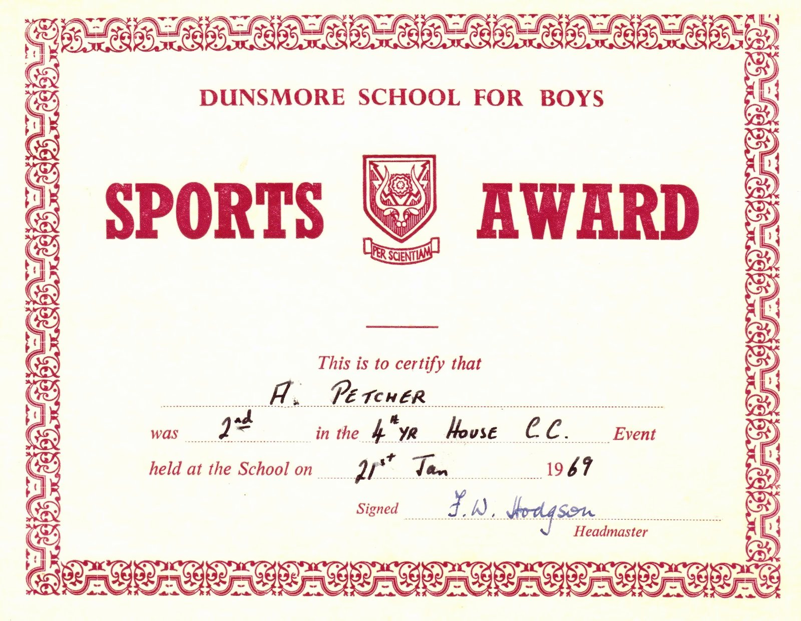 Sports Certificate format In Word Awesome Red Award Sports Certificates Word Pdf