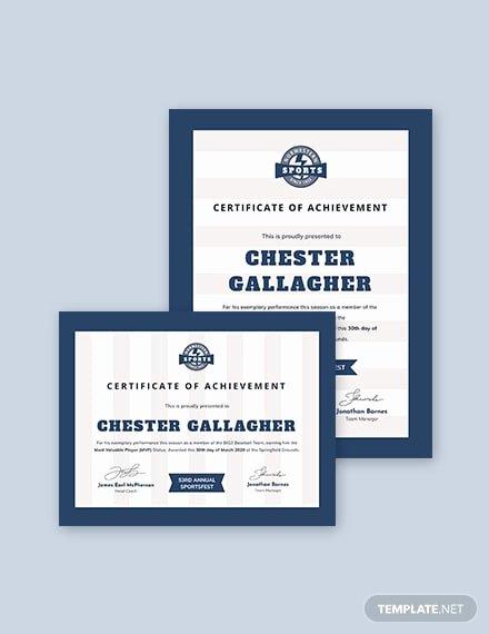 Sports Certificate format In Word Elegant 21 Examples Of Sports Certificates Psd Word Pages
