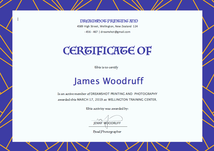 Sports Certificate format In Word Fresh Free Certificate Templates for Word