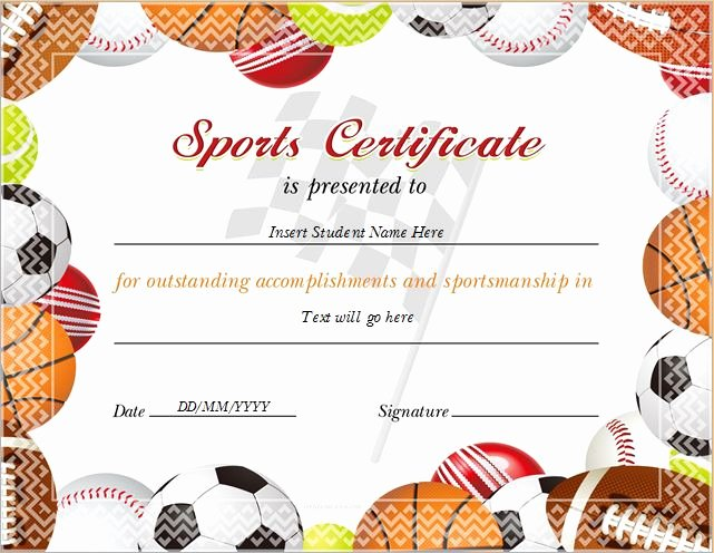 sports certificates