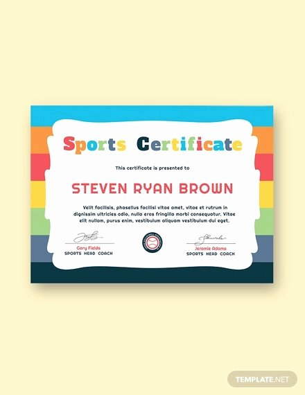 Sports Certificate format In Word Luxury 45 Award Certificate Templates Word Psd Ai Eps