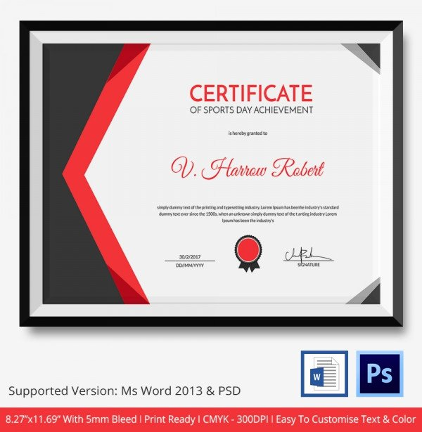 Sports Certificate format In Word Luxury Certificate Template 50 Free Printable Word Excel Pdf