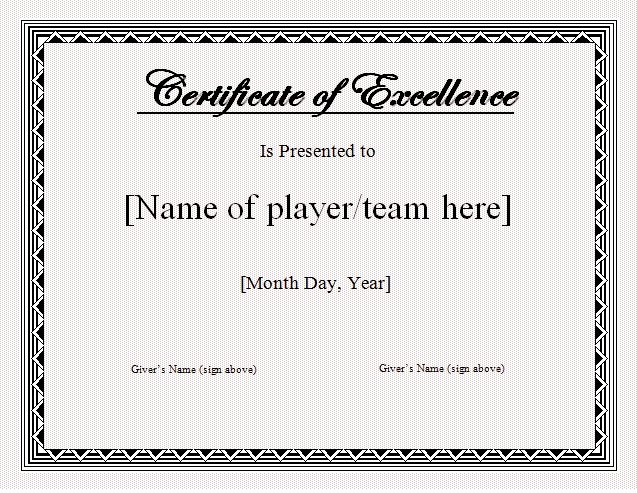 Sports Certificate Templates for Word Awesome 17 Sports Certificate Templates