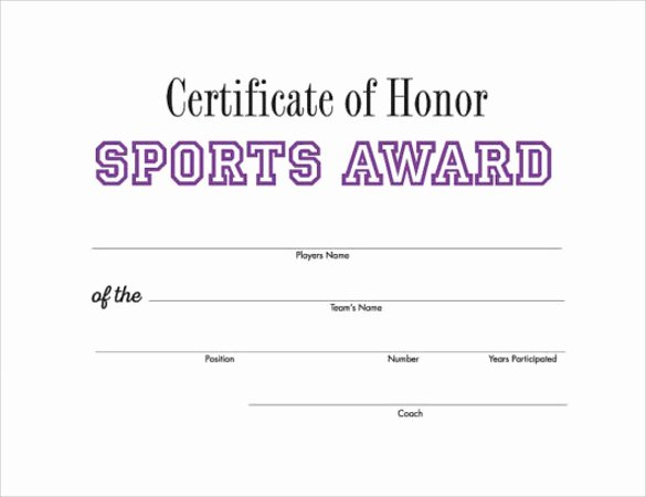 Sports Certificate Templates for Word Inspirational 14 Printable Certificate Templates to Download