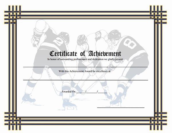 Sports Certificate Templates for Word Inspirational Printable Sports Certificates