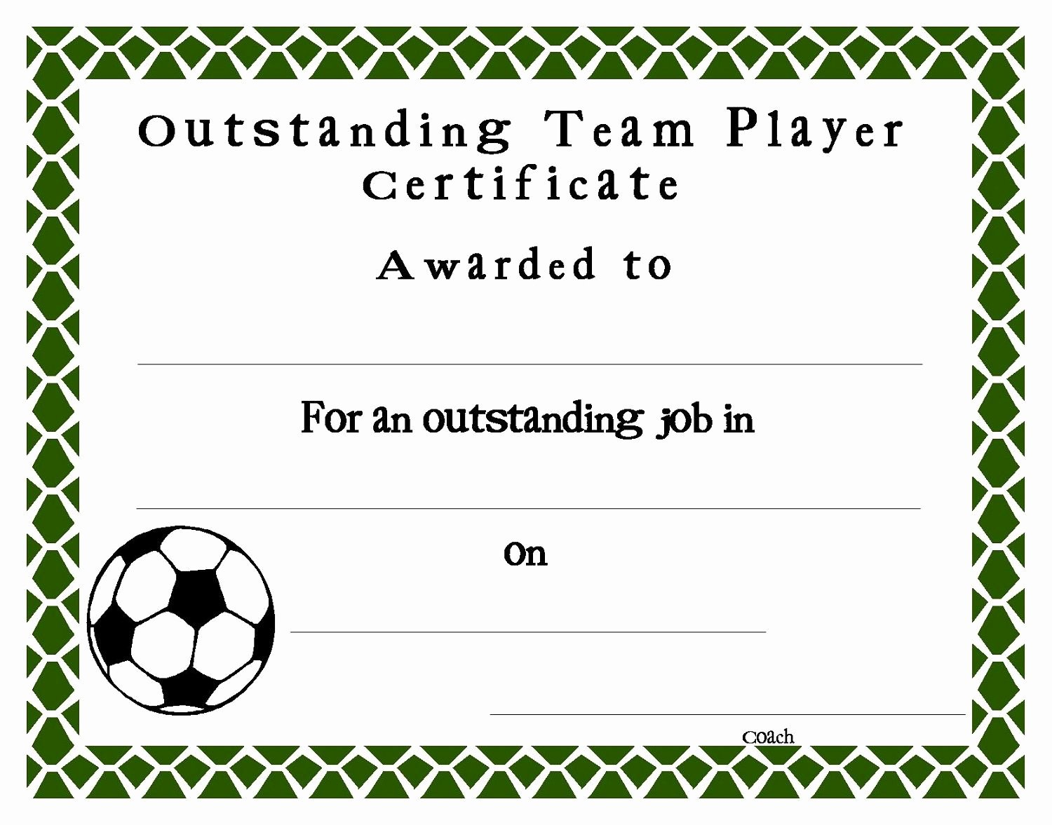 Sports Certificate Templates for Word Luxury soccer Certificate Templates Blank