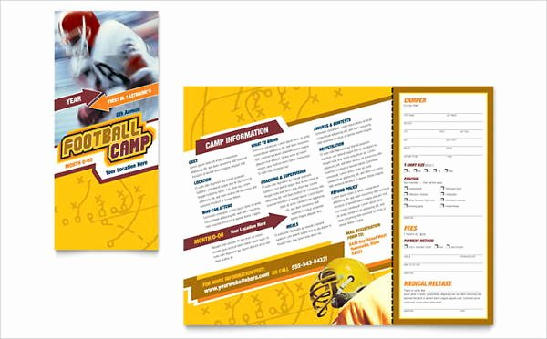 Sports Program Template Microsoft Word Beautiful 11 Sports event Brochures Designs Templates