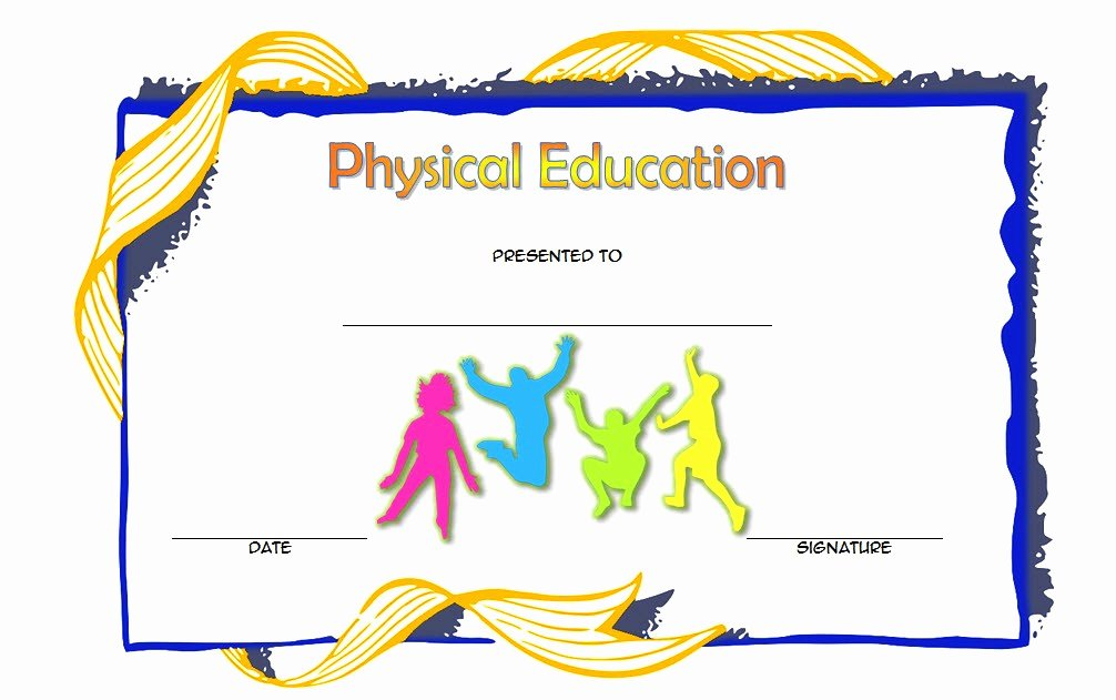 Sports Program Template Microsoft Word Best Of Physical Education Certificate Template Editable [8 Free