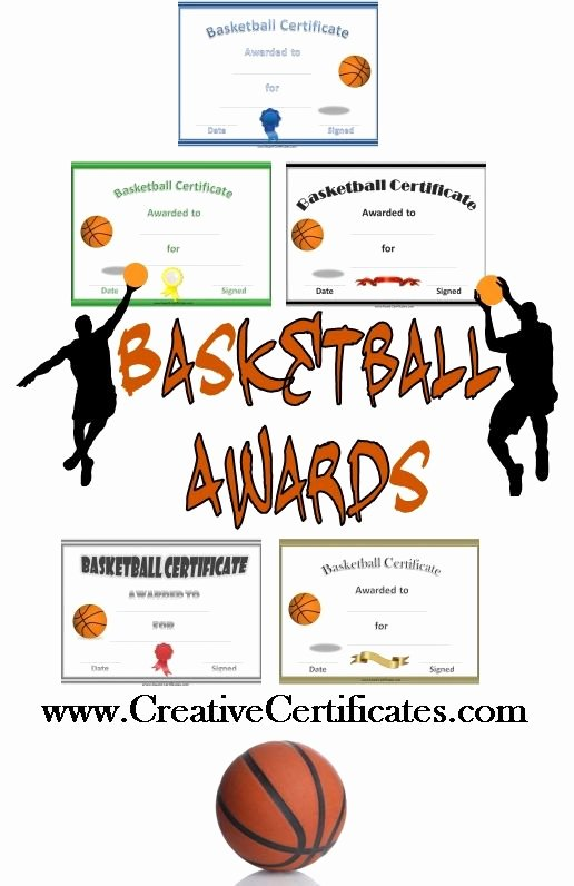 Sports Team Award Ideas Elegant Free Printable Basketball Certificates and Awards that Can