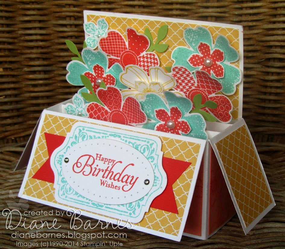 Stampin Up Gift Certificate Template Beautiful Colour Me Happy Flower Shop Long Card In A Box with