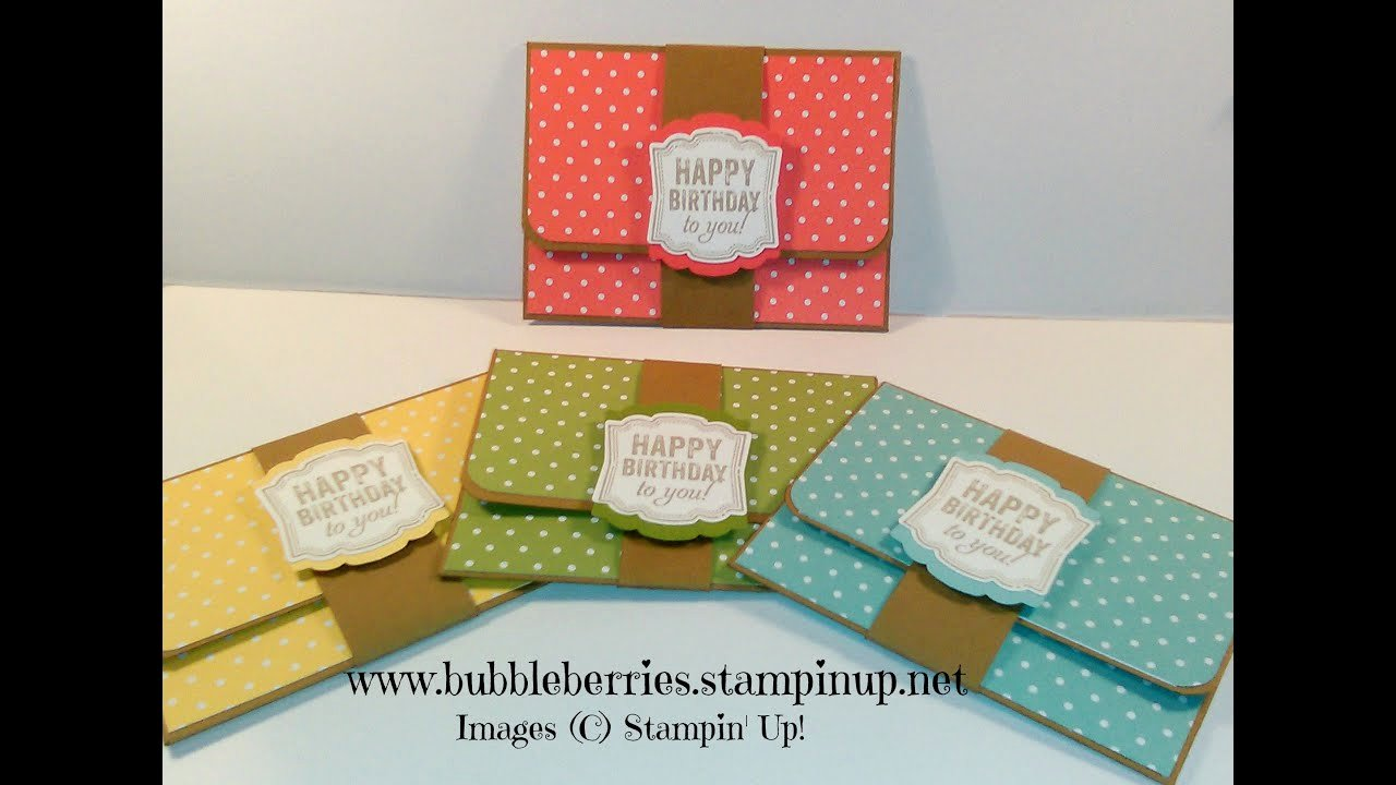 Stampin Up Gift Certificate Template Fresh Quick and Easy Gift Card Money Wallet Using Stampin Up