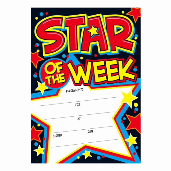 Star Of the Week Certificate Awesome Certificates Star Of the Week