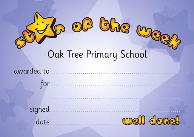 Star Of the Week Certificate Elegant Home School Contact Book Shsc02