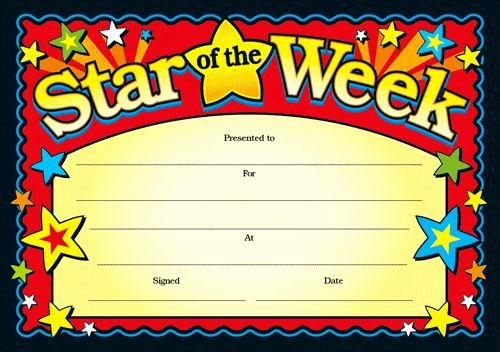 Star Of the Week Certificate Lovely 8 Best Images About Teaching Star Of the Week On
