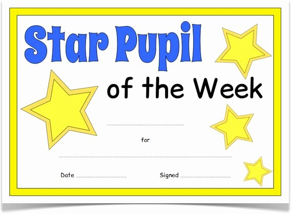 Star Of the Week Certificate New Pin by Lisa Carden On First Grade Ideas