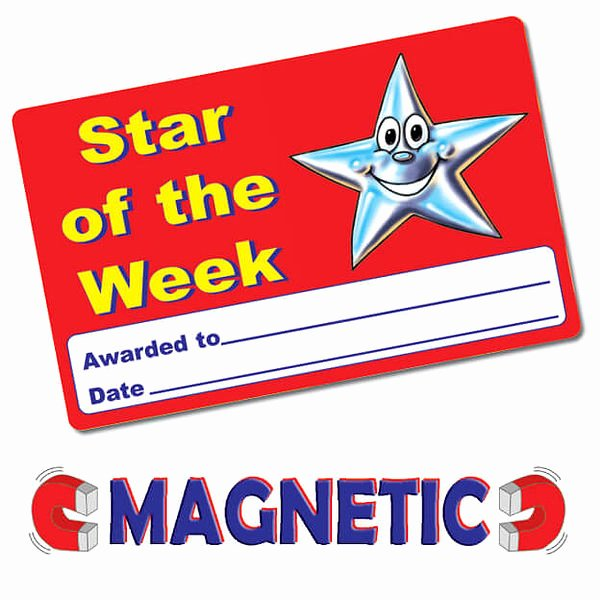 Star Of the Week Certificates Awesome Magnetic Star the Week Cards