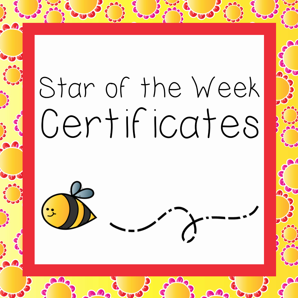 Star Of the Week Certificates Best Of Star Of the Week Certificates – Flower theme – Mash