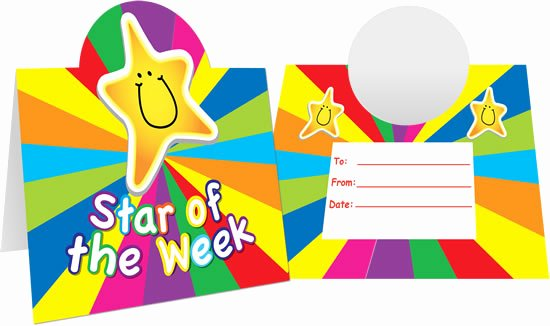 Star Of the Week Certificates Elegant Star the Week Mini Certificates Desktoppers
