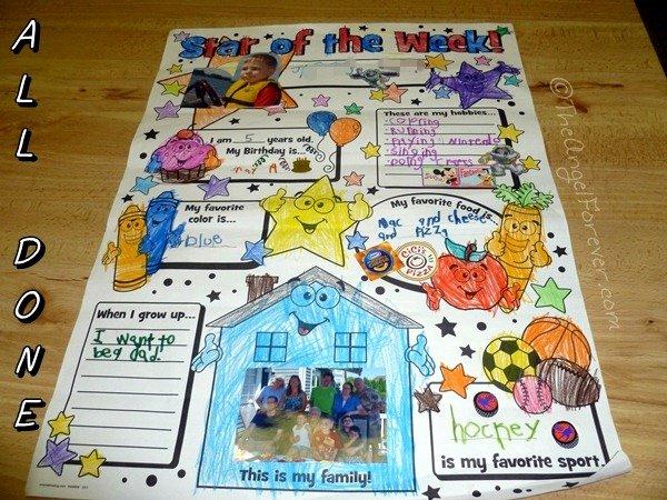 Star Of the Week Poster Printable Elegant Kindergarten Star Of the Week
