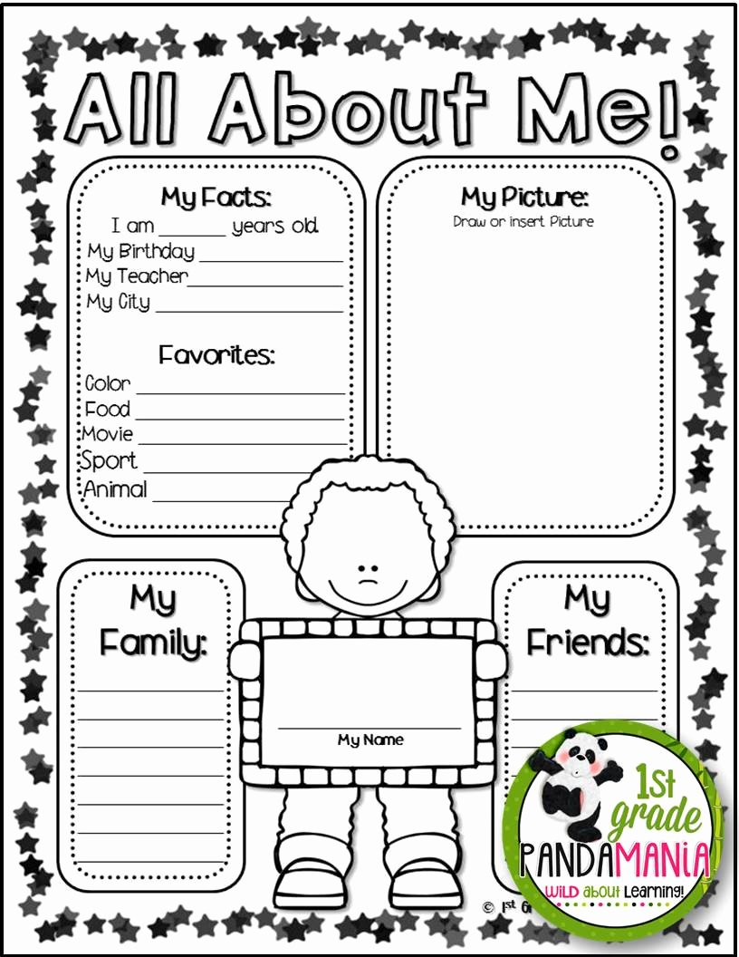 Star Of the Week Poster Printable Luxury 1st Grade Pandamania Star Of the Week