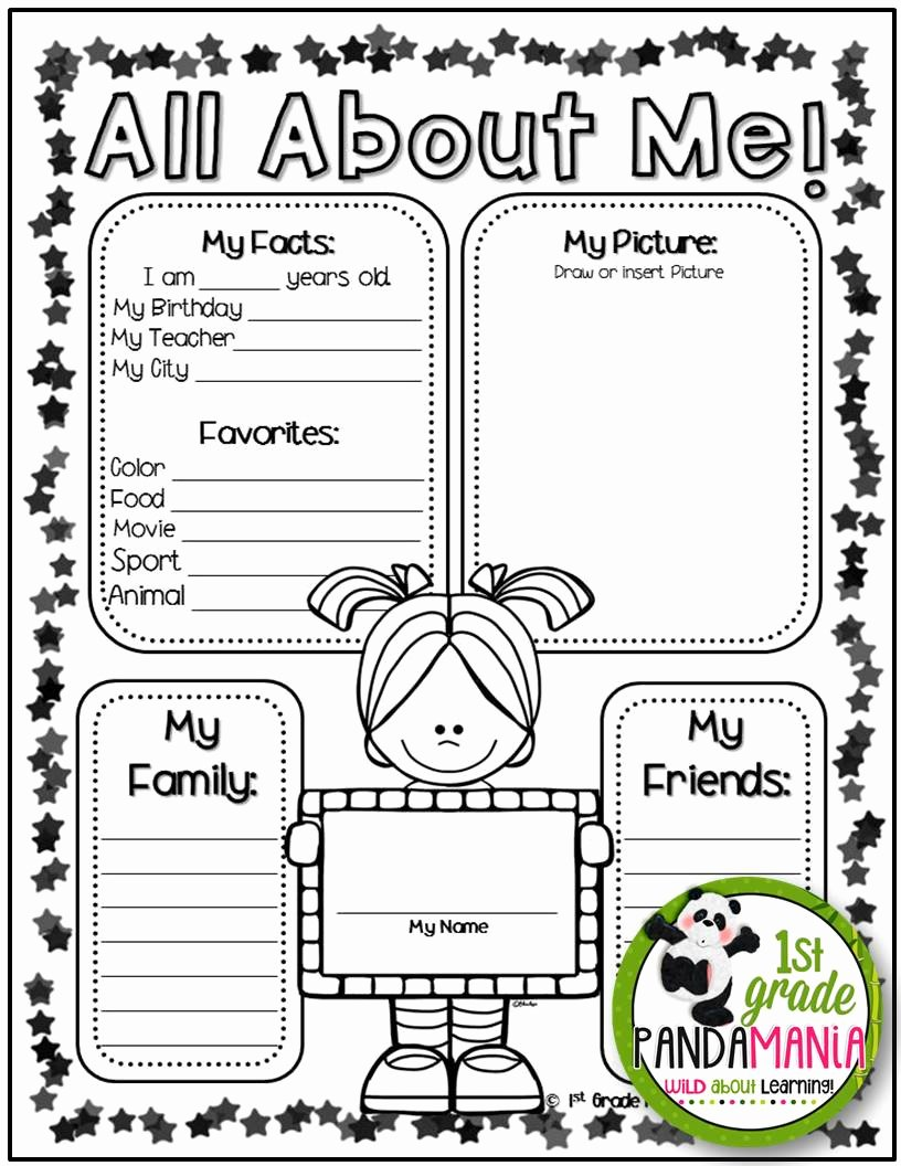 Star Of the Week Poster Printable New 1st Grade Pandamania Star Of the Week