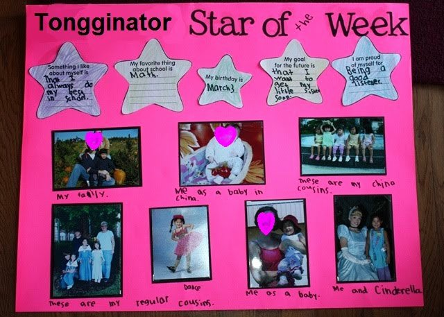 Star Of the Week Poster Printable Unique Our Little tongginator Star Of the Week